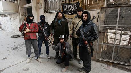 Members of Islamist Syrian rebel group Jabhat al-Nusra. ©Molhem Barakat