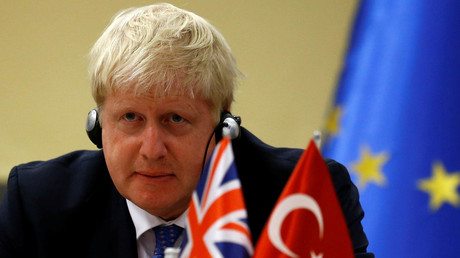 British Foreign Secretary Boris Johnson attends a joint news conference with Turkey's European Union Affairs Minister Omer Celik (not pictured) in Ankara, Turkey, September 26, 2016. © Umit Bektas