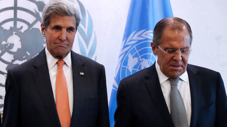 (L-R) U.S. Secretary of State John Kerry and Russian Foreign Minister Sergey Lavrov © Andrew Kelly