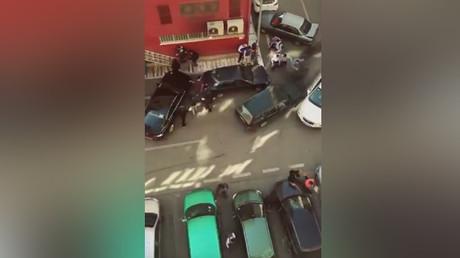Machete-wielding felon smashes car into 18 vehicles in terrifying rampage (VIDEO, PHOTOS)