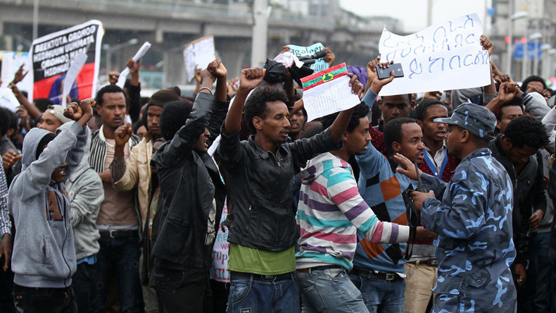 Fatalities reported after police fired tear gas at anti-government rally in Ethiopia