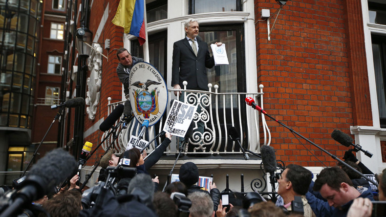 WikiLeaks cancels Assange's live balcony appearance over 'security concerns'
