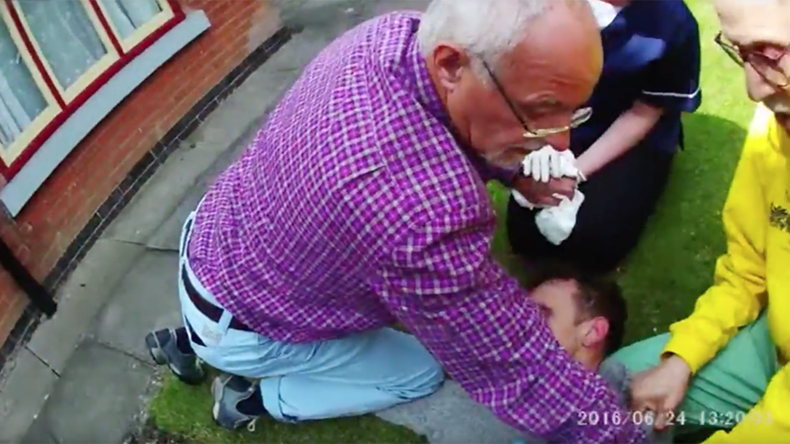 Senior citizens' arrest! Hero pensioners tackle burglar who evaded police for months (VIDEO)