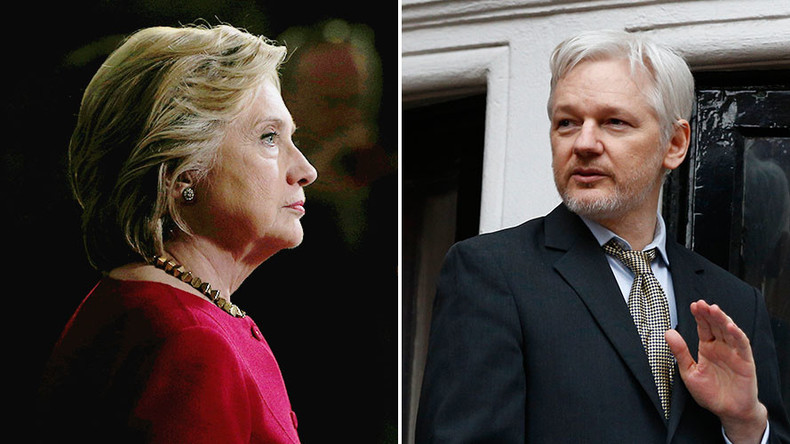 'Would've been a joke': Clinton denies Assange drone attack call