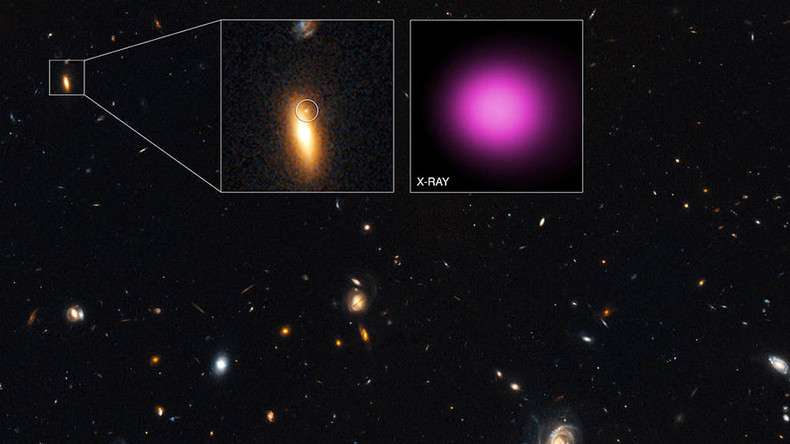 'Wandering' black hole spotted after intergalactic collision (IMAGE)
