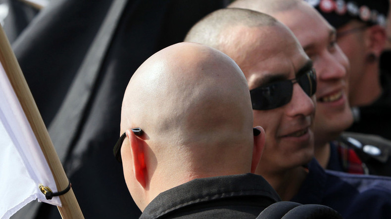 100s of neo-nazis flock to rally disguised as military fundraiser in tiny English village