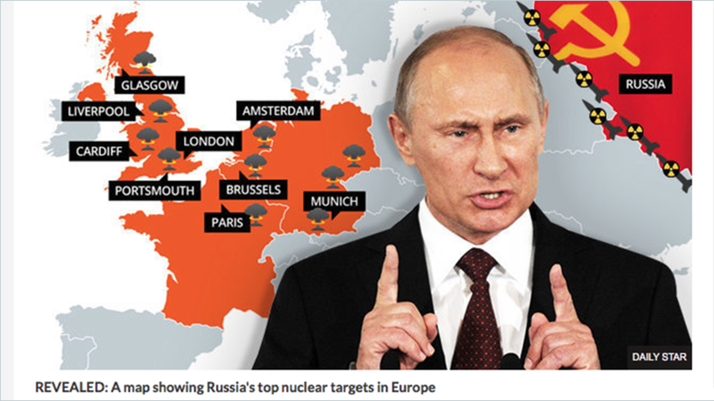 British tabloids go into WWIII frenzy over reported pull-out of Russian officials' relatives