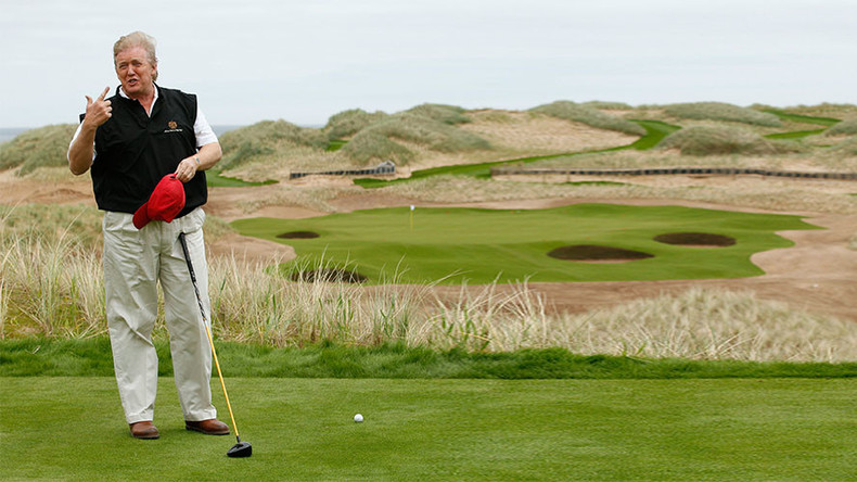 Below par for The Donald: Trump's Scottish golf courses register annual £9.5mn loss
