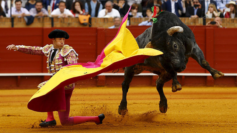'May he die': Anti-bullfighting campaigners hurl abuse at 8yo aspiring matador battling cancer