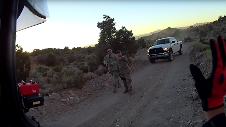 Bikers visit Area 51 'back gate', threatened by 'mysterious' armed guards (VIDEO)