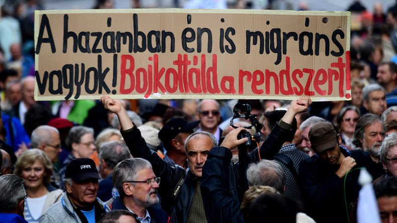 'Stealing our freedom': Thousands rally in Budapest after top political newspaper shut down