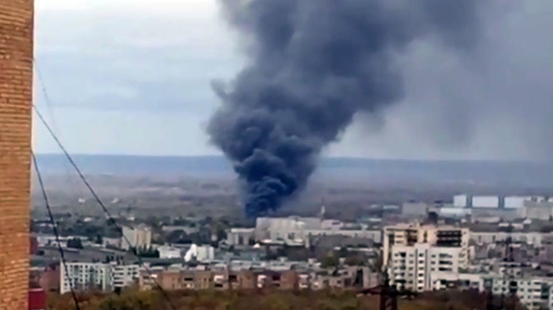 Fire on premises of space rocket center in Samara, Russia (VIDEO)