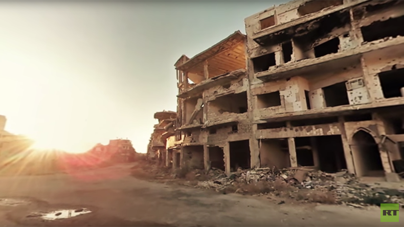 'Silent and lifeless': Eerie 360 video of a Syrian city in ruins