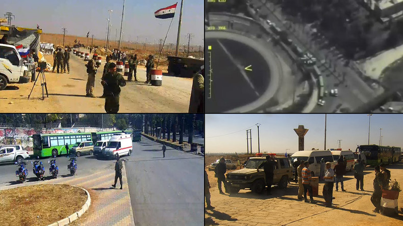 Russian MoD livestreams from Aleppo as civilians leave militant-held areas