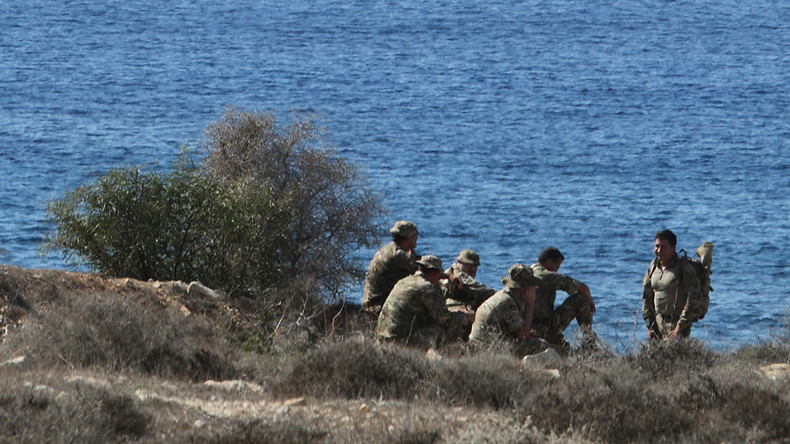 British troops locked in 9-hour standoff with protesters at Cyprus military base