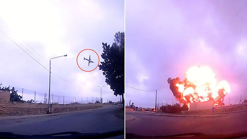 Dashcam captures last seconds of Malta plane before deadly crash (VIDEO)
