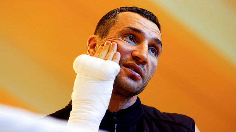Injury forces Klitschko out of Joshua title fight