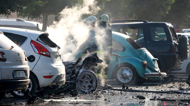Blast near Chamber of Commerce building in Antalya, Turkey, ambulances at scene (VIDEO)