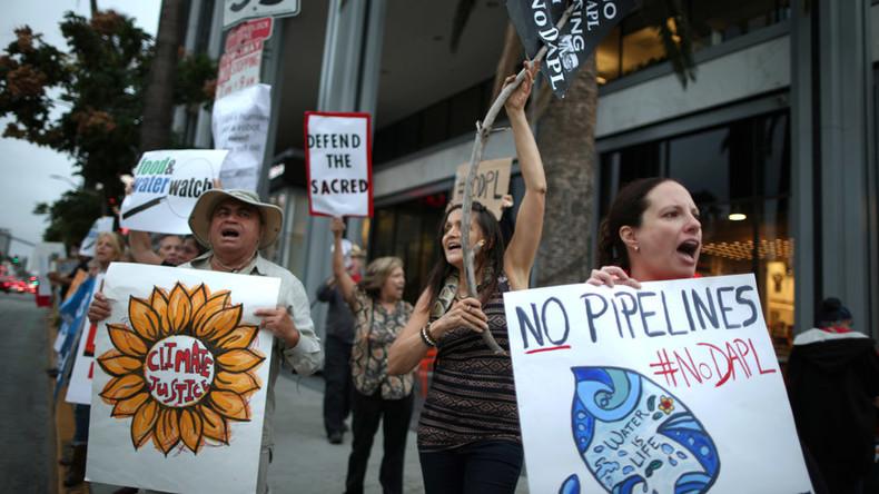 Dakota Access pipeline protesters occupy Hillary Clinton campaign HQ