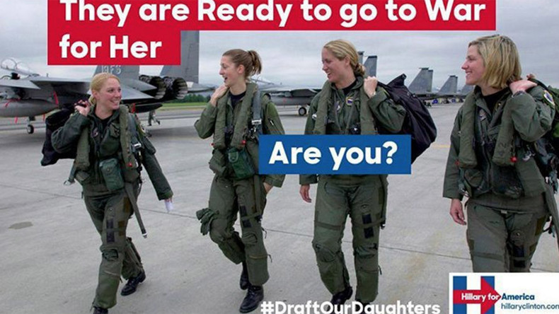 #DraftOurDaughters: Fake Clinton conscription ads flood internet