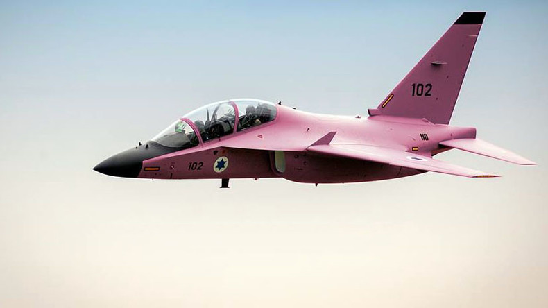 Israeli jet painted pink for breast cancer awareness, slated for denying Gaza medical treatment