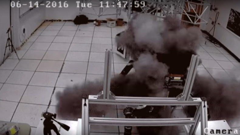 Shocking video shows NASA military robot exploding due to battery failure (VIDEO)