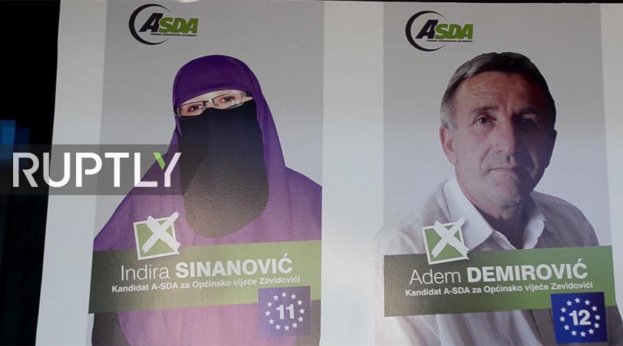 Bosnian niqab-wearing politician seeks office to 'reduce prejudice' & help poor