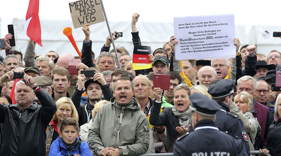 'Merkel must go!' Hundreds protest in Dresden on German Unity Day (PHOTOS, VIDEOS)