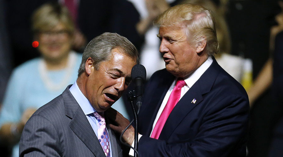 Nigel Farage will reportedly be Donald Trump's guest at next presidential debate