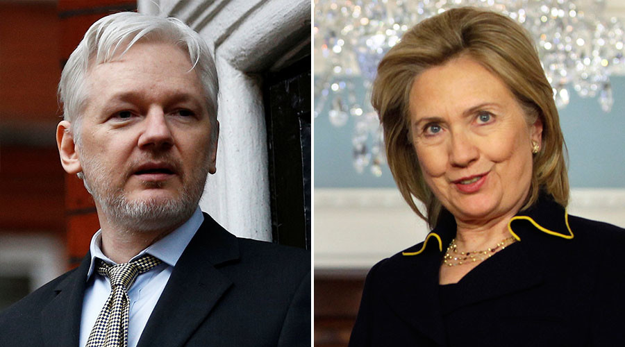 Hillary Clinton considered drone attack on Julian Assange - report