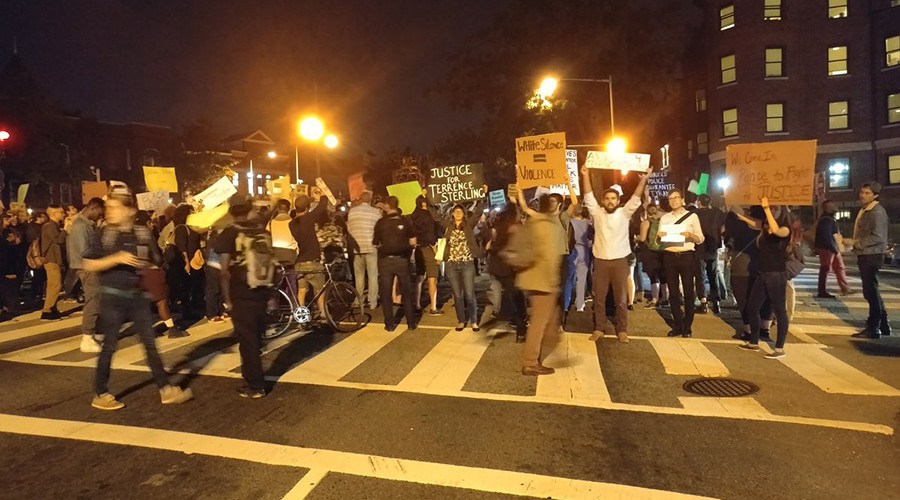 Protests shut down streets in DC to demand justice for Terrence Sterling (VIDEO)
