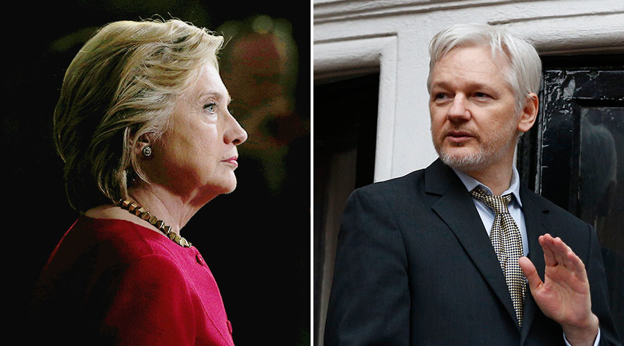 'Would've been a joke': Clinton denies Assange drone attack call