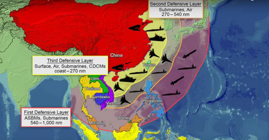 China S Anti Access Area Denial Defensive Layers C Office Of Naval Intelligence
