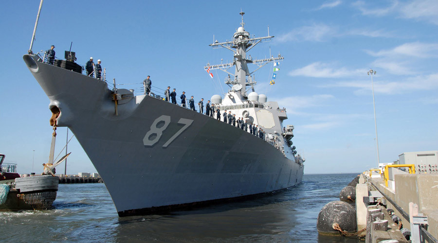 US Navy destroyer comes under missile attack off Yemen coast – Pentagon