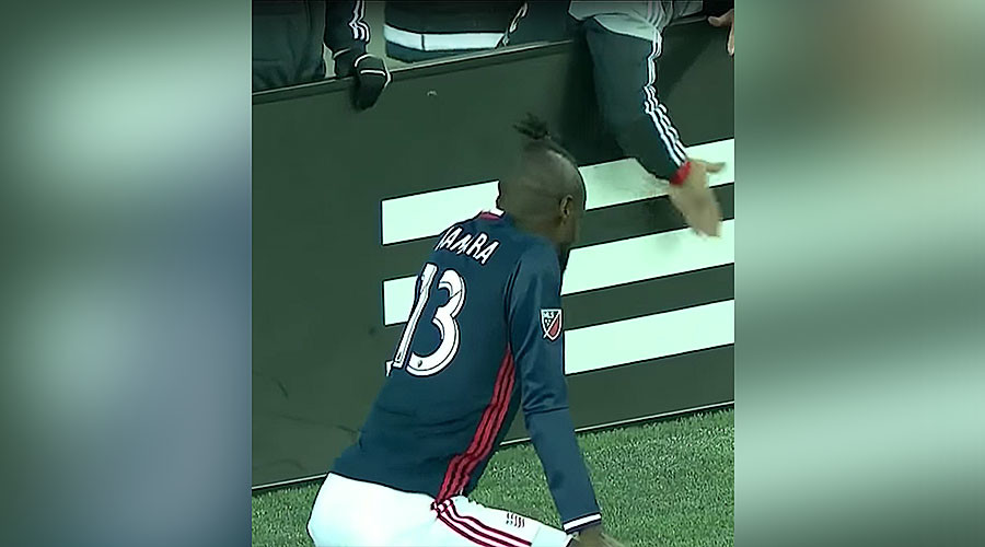 Twerk out: MLS player gets booked for celebratory dance (VIDEO)