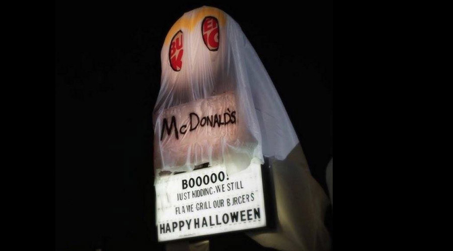 Burger King trolls McDonald's with the best Halloween costume ever