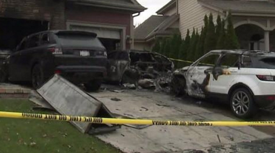 Cars torched in arson attack on UFC ex-champion's home