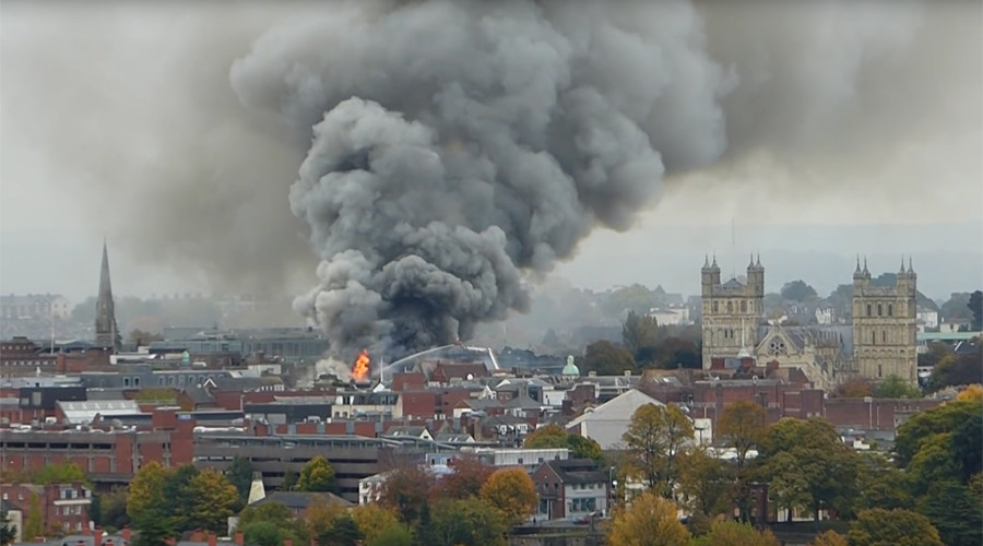 Massive fire rips through 'oldest hotel in England' as over 100 firefighters battle blaze