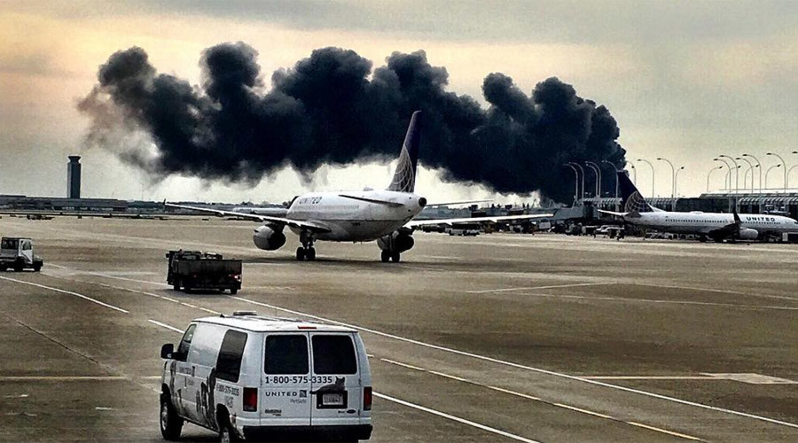 Miami-bound plane catches fire at Chicago airport, 170 people evacuated (PHOTOS, VIDEO)