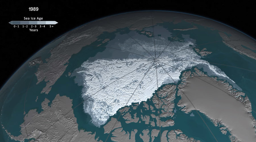 Watch 30yrs of Arctic ice shrinkage in chilling NASA timelapse (VIDEO)