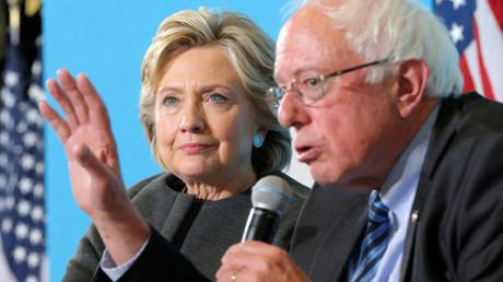 U.S. Democratic presidential nominee Hillary Clinton and U.S. Senator Bernie Sanders © Brian Snyder