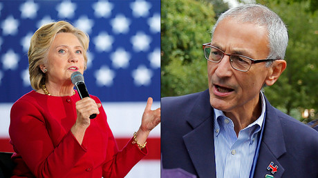 U.S. Democratic presidential nominee Hillary Clinton and John Podesta, campaign chairman for U.S. Democratic presidential nominee Hillary Clinton © Reuters