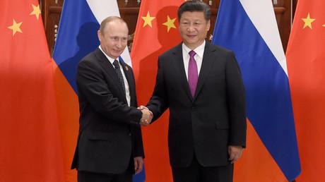 Chinese President Xi Jinping with Russian President Vladimir Putin© Wang Zhao