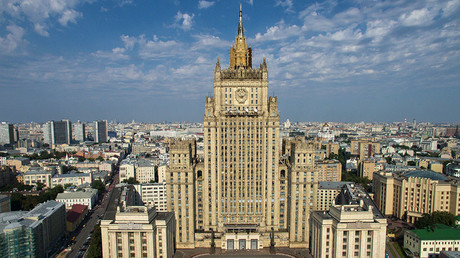Aerial view of the Foreign Ministry building in Moscow. ©Maksim Blinov