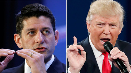 U.S. House Speaker Paul Ryan and Republican U.S. presidential nominee Donald Trump © Gary Cameron / Jim Young
