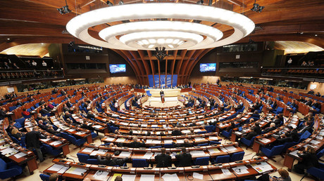 General view of the Council of Europe parliamentary assembly in Strasbourg © Frederick Florin