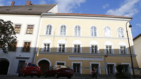 The house in which Adolf Hitler was born is seen in the northern Austrian city of Braunau. © Dominic Ebenbichler