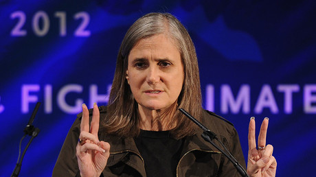 Amy Goodman. © Dimitrios Kambouris / Getty Images for Cinema for Peace New York 2012