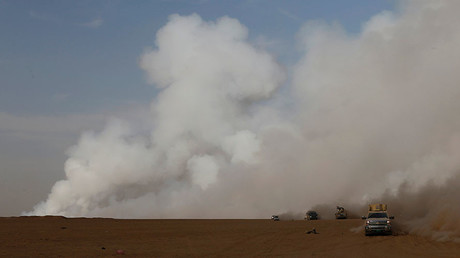 Toxic cloud from Mosul sulfur plant fire suffocates region (PHOTOS, VIDEO)
