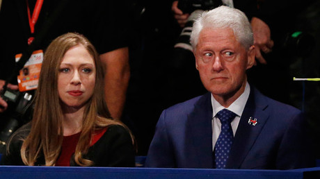 Chelsea Clinton and her father, former U.S. President Bill Clinton © Jim Bourg
